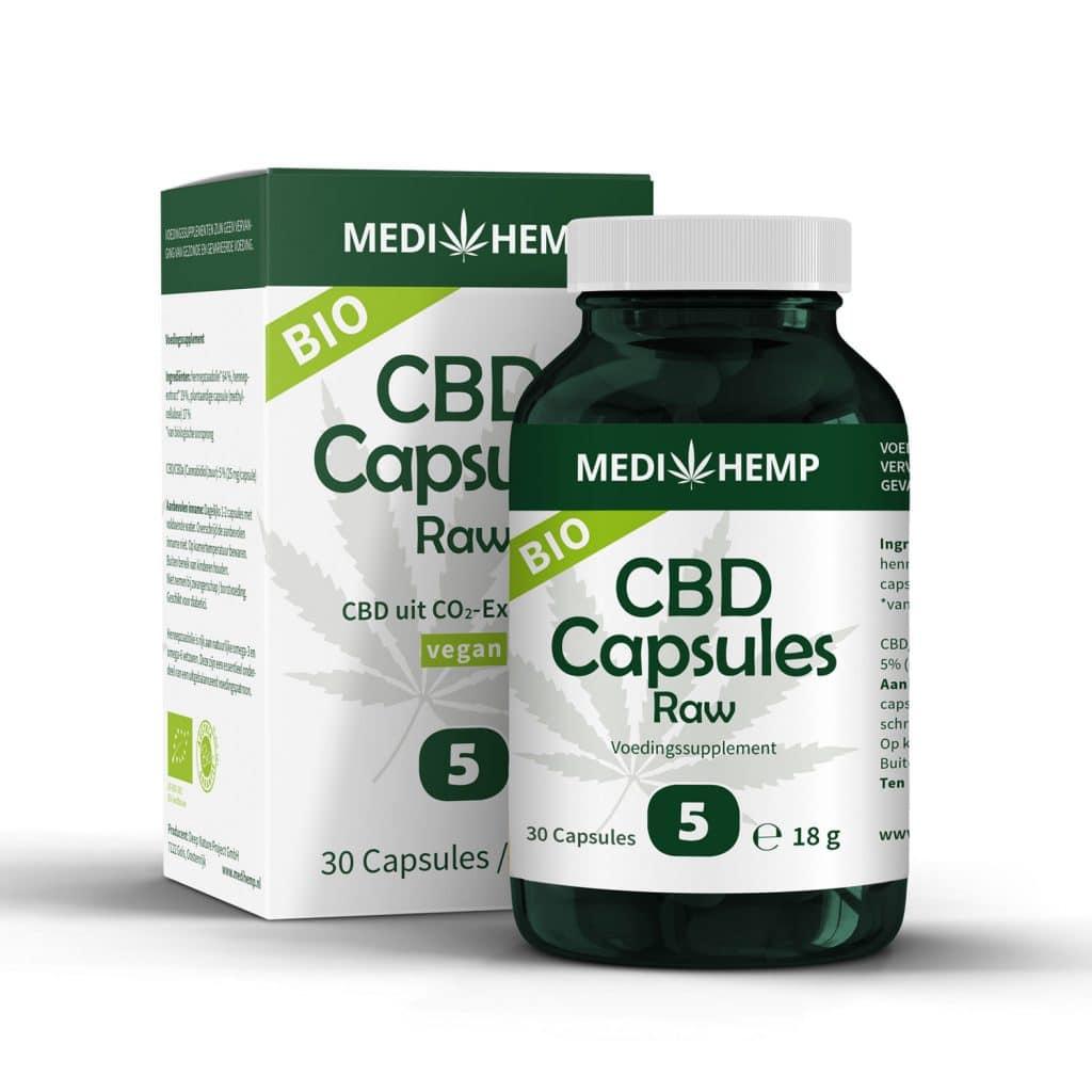 Product image of Medihemp CBD Capsules 5% (25mg)