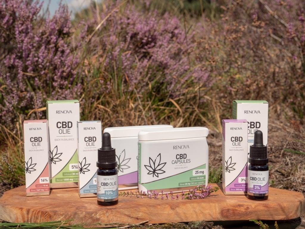 L'emballage des produits Renova cbd
